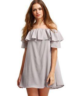 Milumia-Womens-Off-Shoulder-Ruffles-Shift-Loose-Dress