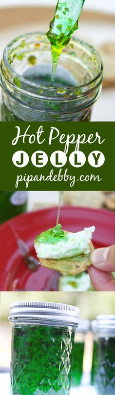 Hot Pepper Jelly - spread this delicious jelly on a sandwich, crackers or toast!