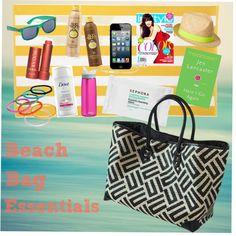 Beach Bag Essentials by @Jayme and Mendi HerLateNightCravings!!
