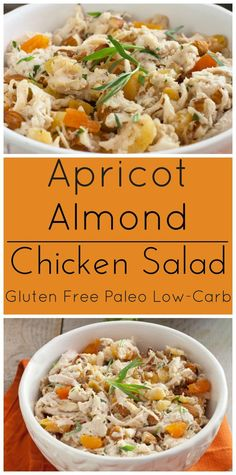 Deliccious Chicken Salad with Apricots, Almonds and Tarragon. Gluten ...