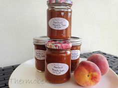 This is a great jam to make when you come across well priced trays of peaches. It doesn't use a lot of sugar, as far as jams go and the peach flavour is simply divine. 1 apple, cored and quartered. Jam Recipes, Canning Recipes, Sweet Recipes, How To Make Jam, Food To Make, Making Food, Nectarine Jam, Clean Eating Sweets, Bellini Recipe
