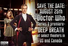 """Guys the first episode of the new season is called """"Deep Breath"""" Cause we will all be so excited we forget to breath and Moffet named it Deep Breath to remind us all to breath. So thoughtful:)"""