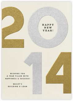 Big Numbers 2014 - Silver And Gold - Paperless Post