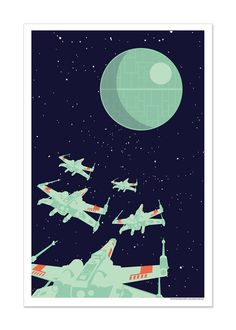 Star Wars inspired art print 12x18