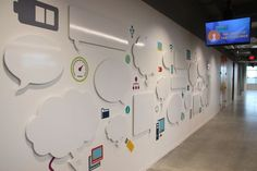 Enrutamiento CNC - Corte a forma - Recortes - CC West Printing Office Wall Design, Office Wall Art, Office Walls, Office Interior Design, Office Interiors, Interior Design Software, Interior Design Photos, Design Ppt, Design Websites