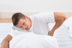 Why do I suffer from back pain when waking up? - There are plenty possible reasons why you are suffering from back pain when waking up. The causes may range from a wrong sleeping position to spinal stenosis or ruptured disc Wake Up Now, Spinal Stenosis, Tight Hip Flexors, Psoas Muscle, Tight Hips, Low Back Pain, Pain Relief, Personal Trainer