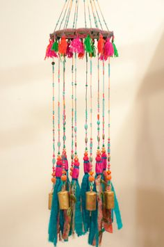 Wind chime garden art-turquoise mobile Bells-Wind Chime-unique wind chimes-pink suncatcher-boho mobile-window suncatchers-wind bells-mobile by RONITPETERART on Etsy decor diy wind chimes Bohemian Decor-Turquoise and fuchsia Pink Wind chime sun catchers Art Turquoise, Turquoise Home Decor, Mobiles, Carillons Diy, Sun Catchers, Deco Nature, Diy Wind Chimes, Estilo Hippie, Diy Bird Feeder