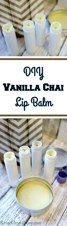 Looking to make your own lip balm and like chai? Check out this easy DIY Vanilla Chai Lip Balm!
