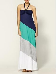 Ella Moss Exclusively for Piperlime Colorblock Maxi Dress | Piperlime