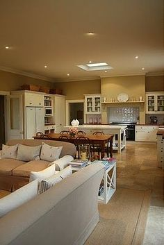 Open Plan Kitchen Dining Living Room Brabourne Farm