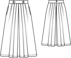 Pleated Skirt Burda 133 Feb 2013 #pleatedskirt #pattern