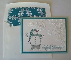 Stampin Up Card Kit- Snow Much Fun & More Merry Messages Christmas Card