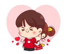 Wedding Couple Cartoon, Love Cartoon Couple, Cute Cartoon, Cartoon Art, Valentine Cartoon, Teacher Cartoon, Kawaii Illustration, Character Illustration, Cute Chibi Couple