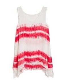Splendid Girls' Tie Dyed Striped Woven Tank - Sizes 7-14