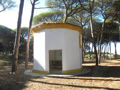Ermita abandonada en Isla Cristina-Campamento la Rábida-Falange Española