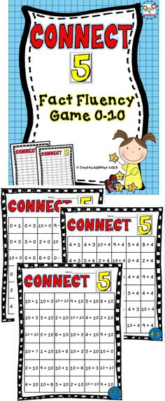 Math fact fluency game for numbers 0-10. Great game to use in math centers to help students learn their facts!
