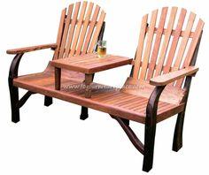 wooden/iron tete a tete | Teak Tete-a-tetes