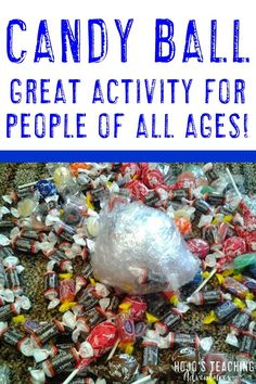 Are you looking for a fun & engaging activity for your classroom? This candy ball will be a blast for a holiday party, end of year, or others! 5th Grade Classroom, Middle School Classroom, Geek Birthday, 30th Birthday, 21st Birthday Checklist, Christmas Scavenger Hunt, Reading Recovery, Ell Students, Middle Schoolers