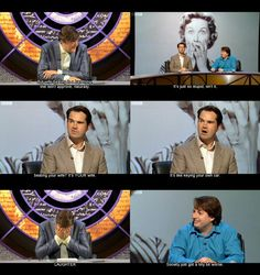 Stephen Fry, Jimmy Carr, and David Mitchell QI - Beating Your Wife