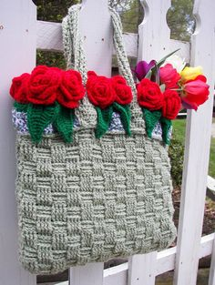 Hey, I found this really awesome Etsy listing at https://www.etsy.com/listing/230266635/crochet-tote-bag-basket-full-of-roses
