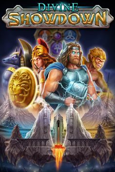 Divine Showdown is a Play'n GO-powered online slot with 20 paylines and an impressive collection of bonuses, including wild reels, symbol upgrades, synced reels and multipliers. You can trigger an exciting battle bonus free spins round, and there is a hugely generous 5000x top prize available in this game. Online Casino Games, Free Slots, Slot Machine, New Zealand, Battle, Top, Collection, Shirts, Arcade Machine