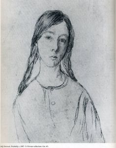 Self Portrait, Gwen John - Women in Art History Self Portrait Drawing, Portrait Sketches, Gwen John, Selfies, Rainer Maria Rilke, English Artists, Portraits, Portrait Paintings, Post Impressionism
