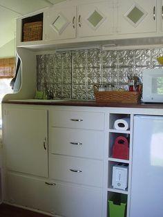 Kitchenette storage (I think it's a Shasta).