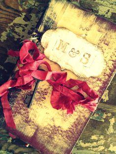Wedding guest book CUSTOM Rustic Glam by ShabbyScrap on Etsy, $100.00