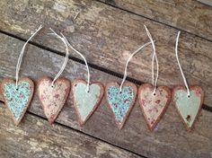 Primitive Valentines Love Heart Tags.