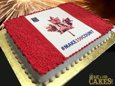 Today the Exeter is celebrating Canada's with Cake. And a bake-sale, all proceeds will generously be donated to support Royal Bank, Canada 150, Sheet Cakes, Exeter, Bake Sale, Baking, Desserts, How To Make, Food