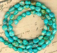 "Southwest Kingman Mine Turquoise Beads 5 7mm Blue Glow All Natural 16"" Strd 