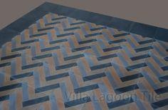 Herringbone Cement Tile Photo