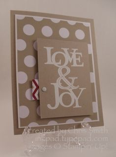 Stamps: Love & Joy Paper: Season of Style, Crumb Cake, Whisper White Ink: Versamark, Accessories: White embossing powder, dimensionals