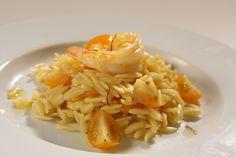 Barilla Orzo Pasta Salad with Shrimp and Saffron