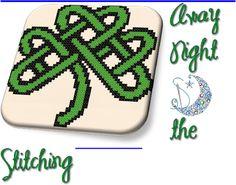 Simple Shamrock Celtic Knot Work Free Cross Stitch Pattern