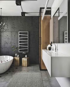 This modern loft interior designed in old soviet architecture building is a project designed by IDwhite in 2016 and is located in Kaunas, Lithuania. Photography by IDwhite House Inspiration, Industrial Bathroom Decor, Interior, Shower Design, Industrial Bathroom Design, Loft Interior Design, Modern Loft, Cottage Bathroom, Bathroom Design
