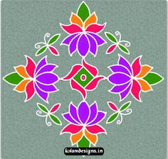 This is an Lotus Free Hand Kolam of Rangoli builds up in the Dots (Idukku Pulli kolam). So an alert, note the number of dots consumed in a single lotus. Rangoli Patterns, Rangoli Ideas, Quilling Designs, Rangoli Designs, Flower Rangoli, Colour Rangoli, Latest Rangoli, Diwali Rangoli, Indian Patterns