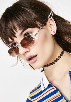 15f2e32318e Delias Frameless Gradient Brown Sunglasses