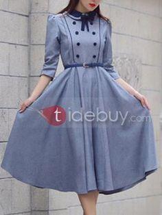 イングランドスタイリッシュなロングスリーブスケータードレス