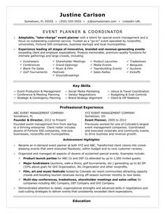 Event Coordinator Resume Sample