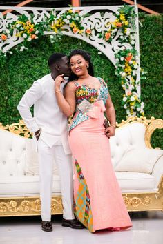 African Party Dresses, African Wedding Attire, Latest African Fashion Dresses, African Print Fashion, Africa Fashion, African Attire, African Wear, Ghana Traditional Wedding, South African Traditional Dresses
