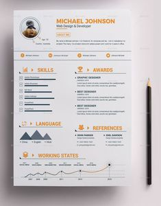 """Buy Resume Bundle by on GraphicRiver. Resume Bundle 2 in 1 """" Resume """" is a super clean, modern and professional resume cv template to help you land that gr. Graphic Design Resume, Resume Design Template, Creative Resume Templates, Cv Template, Portfolio Resume, Portfolio Design, Portfolio Professional, Professional Resume, Conception Cv"""