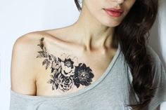 Hey, I found this really awesome Etsy listing at https://www.etsy.com/listing/258518872/floral-temporary-tattoo-rose-tattoo