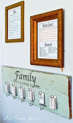 Chore Charts and Family Rules I want to make these