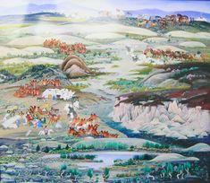 """Mongolian painter madam Badam 'Summer in Tsagaan suvarga'  Эрмитажид заларсан монгол бүтээлийн эзэн """"МАДАМ"""" БАДАМ"""