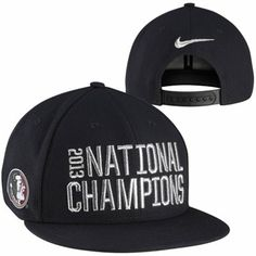 Nike Florida State Seminoles (FSU) 2013 BCS National Champions Locker Room Player's Snapback Hat - Black