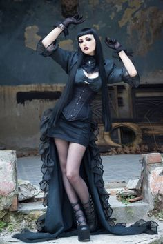 #Goth #Gothic The Dark Side Fashion ♠️