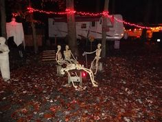New Columbia, Pennsylvania Camping Photos Haunted Halloween, Halloween Prop, Halloween Crafts For Kids, Outdoor Halloween, Halloween 2018, Halloween Stuff, Halloween Ideas, Halloween Camping Decorations, Spooky Decor
