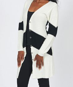 Take a look at this White Stripe Duster by Bacci on #zulily today!