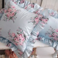 korean rustik 100% fırfır pamuk yastık örtüsü yastık kılıfı, gül yastık örtüsü, mavi minder kilifi(China (Mainland))